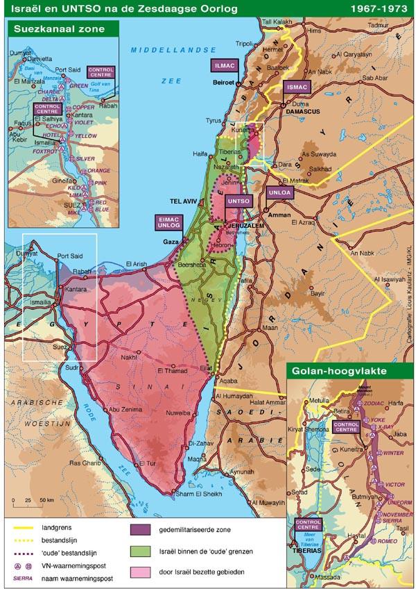 Israël en UNTSO na de Zesdaagse Oorlog (1967-1973)