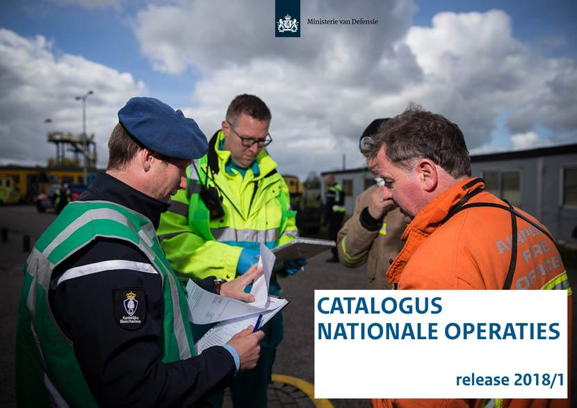 Cover Catalogus Nationale Operaties. Tekst cover: Catalogus Nationale Operaties release 2018/1.