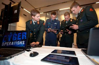 Military with tablets