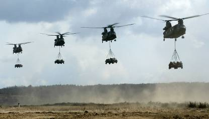Chinooks in vlucht
