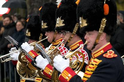 Koninklijke Militaire Kapel 'Johan Willem Friso' in ceremonieel tenue